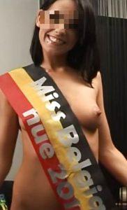 Miss Belgique nue cherche mecs